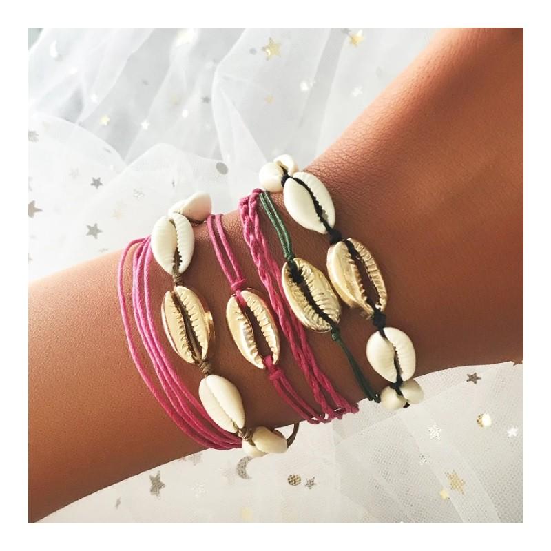 Armband met schelpen
