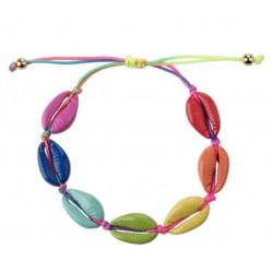 Gekleurde schelpen armband