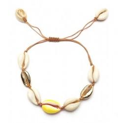 Gele schelpen Armband