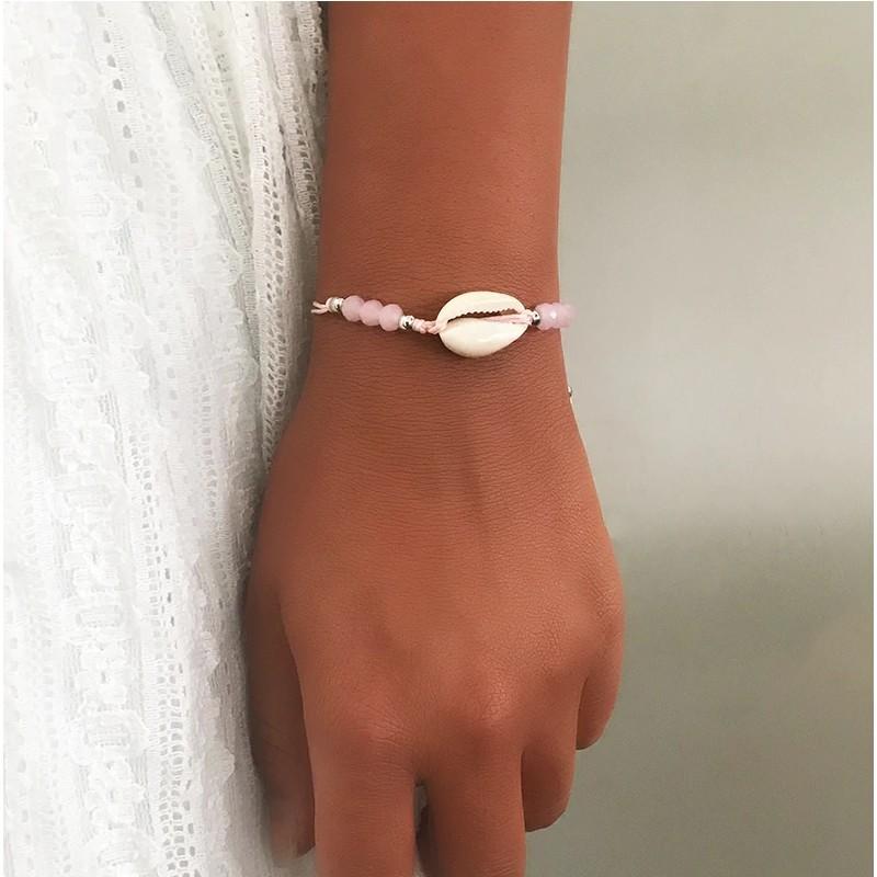 Schelpen Armbandje Roze