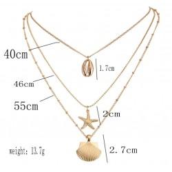 Goudkleurige schelpen halsketting
