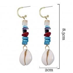 schelpen oorbellen met steentjes