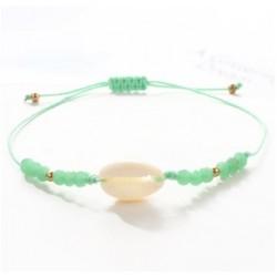 groen schelpen armbandje