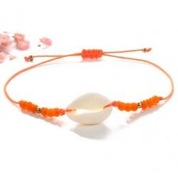 oranje schelpen armbandje